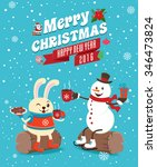 vintage christmas poster design ...   Shutterstock .eps vector #346473824