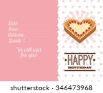 happy birthday card design ... | Shutterstock .eps vector #346473968