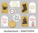 set of 10 creative christmas... | Shutterstock .eps vector #346474394