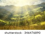 carpathian mountains summer ... | Shutterstock . vector #346476890