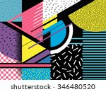 pop art. geometric elements.... | Shutterstock .eps vector #346480520