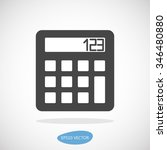 calculator icon   isolated... | Shutterstock .eps vector #346480880