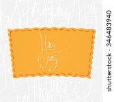 greetings lettering   holly... | Shutterstock .eps vector #346483940