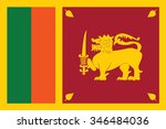 sri lanka flag vector | Shutterstock .eps vector #346484036