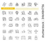 set of line icon concept travel.... | Shutterstock . vector #346484756