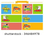buying selling rental car. buy... | Shutterstock . vector #346484978