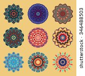 mandala. set of decorative ... | Shutterstock .eps vector #346488503