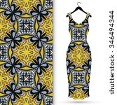 vector fashion illustration.... | Shutterstock .eps vector #346494344