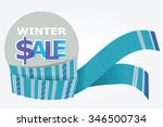 blue scarf for winter sale | Shutterstock . vector #346500734