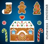 Gingerbread Christmas Vector...