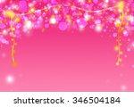 pink glitter sparkle defocused... | Shutterstock . vector #346504184