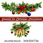 christmas decoration  with...   Shutterstock .eps vector #346504736