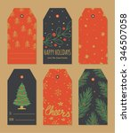 set of christmas tags...   Shutterstock .eps vector #346507058