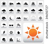 weather icons | Shutterstock .eps vector #34650727