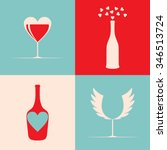 creative background with wine... | Shutterstock .eps vector #346513724