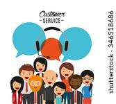 customer service design  vector ... | Shutterstock .eps vector #346518686