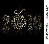 new 2016 year symbol on black... | Shutterstock .eps vector #346521824