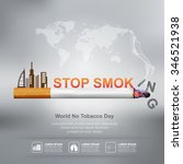 world no tobacco day vector... | Shutterstock .eps vector #346521938