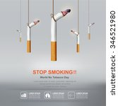 world no tobacco day vector... | Shutterstock .eps vector #346521980