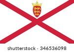 flag of jersey | Shutterstock .eps vector #346536098