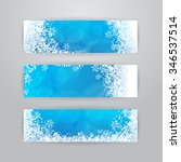 set of three horizontal banners ... | Shutterstock . vector #346537514