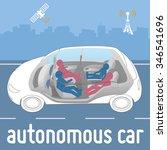 autonomous car seats that can... | Shutterstock .eps vector #346541696