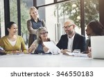 business people meeting... | Shutterstock . vector #346550183