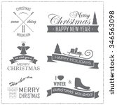 set of christmas badges and... | Shutterstock .eps vector #346563098