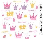 crown seamless pattern | Shutterstock .eps vector #346578020