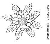 abstract vector flower. cute... | Shutterstock .eps vector #346579349