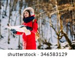 hiker looking for the way on... | Shutterstock . vector #346583129