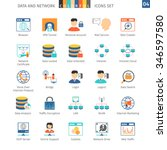 data and networks colorful icon ... | Shutterstock .eps vector #346597580