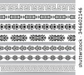 borders with ornamental... | Shutterstock .eps vector #346602146