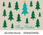 minimalist christmas card with... | Shutterstock .eps vector #346603406