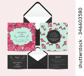wedding set with invitation and ... | Shutterstock .eps vector #346603580