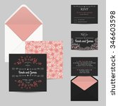 wedding set with invitation and ... | Shutterstock .eps vector #346603598