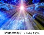 light expel darkness concept... | Shutterstock . vector #346615148