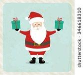 lovely santa claus | Shutterstock .eps vector #346618310