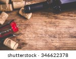 wine background   tilt shift... | Shutterstock . vector #346622378