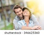 portrait of in love young...   Shutterstock . vector #346625360