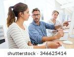 school instructor helping... | Shutterstock . vector #346625414