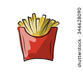 french fries sketch for your... | Shutterstock .eps vector #346628090