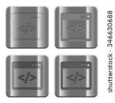 set of programming code buttons ... | Shutterstock .eps vector #346630688