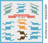 set of vector ribbons for... | Shutterstock .eps vector #346632389