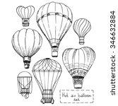Hot Air Balloon Set  Contour...