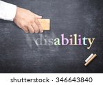 world disable day concept ... | Shutterstock . vector #346643840