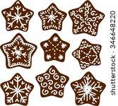 christmas cookies | Shutterstock .eps vector #346648220