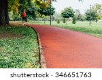jogging track in the park.... | Shutterstock . vector #346651763