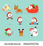 collection of santa clauses ... | Shutterstock .eps vector #346654256