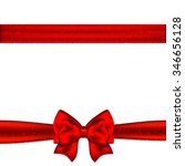 red ribbon bow horizontal... | Shutterstock . vector #346656128
